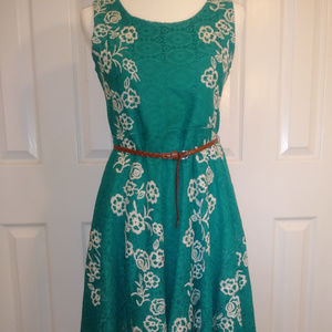 Knitworks Embroidered Lace Dress NWOT